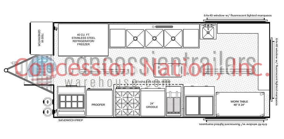 Concession Stand Building Plans Catering Trailer Plans - Food truck floor plan