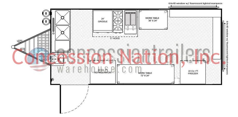 concession stand building plans catering trailer plans rh concessiontrailerswarehouse com Concession Trailer Interior Small Concession Trailers