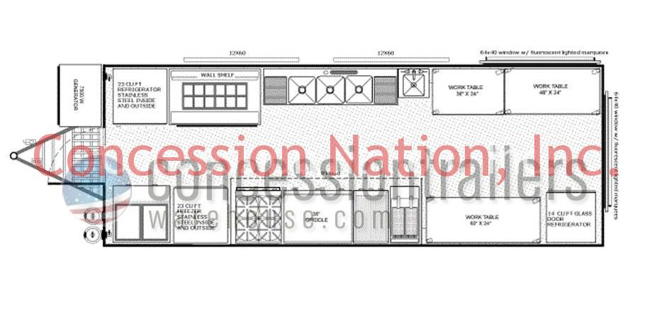 822 FLOOR PLANS Food Concession Trailer Food Trucks For Sale