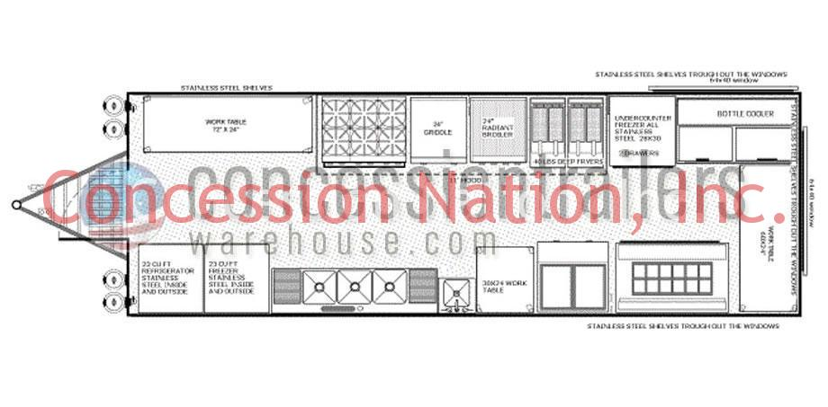 food concession trailer floor plans