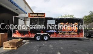 Lighthouse BBQ smoker trailer