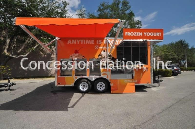 Smoker Trailer TX BBQ Island Concession With TV