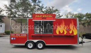 Red Devil BBQ Smoker Trailer